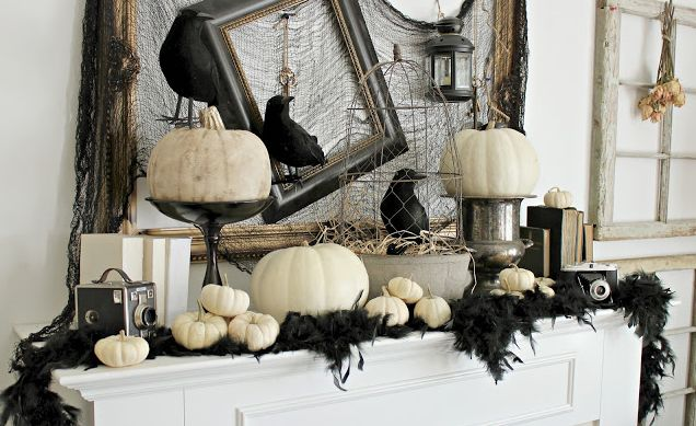 craftberry-bush-halloween-mantle-decorations